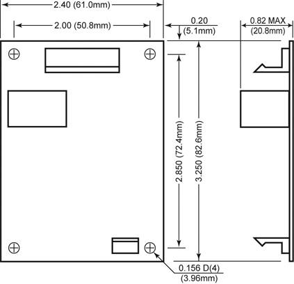 SmartFan Omni SD Fan Speed Control and Alarm dimensions