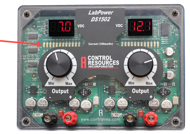 dual 12 VDC variable bench top power supply labpowerbenchtop dc power supply la