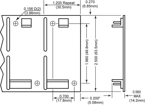 Fan Speed Alarm TachStrip SmartFan Dimensions